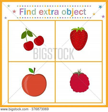 Map For The Development Of Children, Find An Extra Object Where The Fruit Is Among The Berries, The