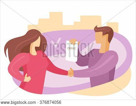 Handshake Agreement Deal Concept. Business Person Partnership Contract Success. Cooperation Communic