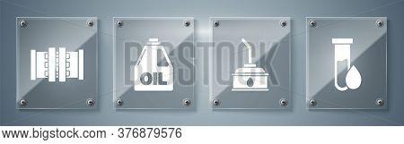 Set Oil Petrol Test Tube, Canister For Motor Machine Oil, Canister For Motor Machine Oil And Industr