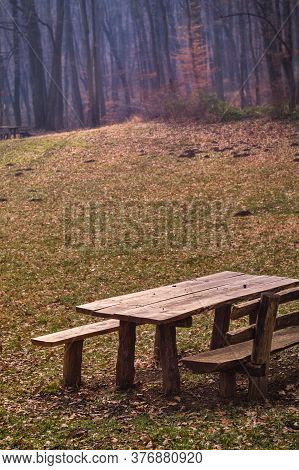 Picnic And Camping Area In Fruska Gora Mountain In Vojvodina Province Of Serbia