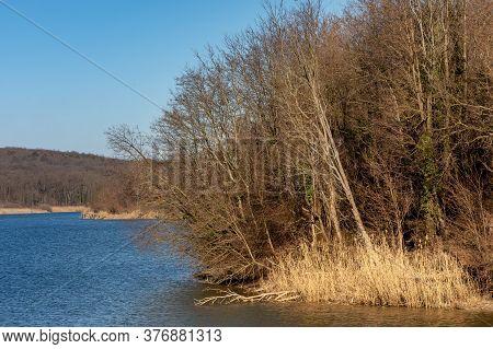 Moharac Lake On The Western Slopes Of Fruska Gora Mountain In Vojvodina Serbia
