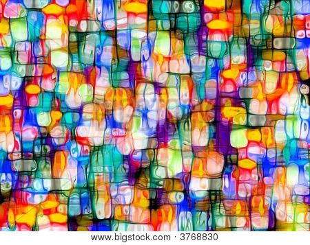 Fantasy Colorful Computer Generated Distorted Abstract