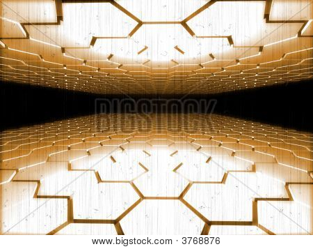 Fantasy Computer Generated Parallel Shapes In Old Style Theme