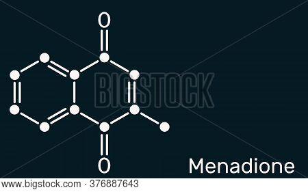 Menadione, Menaphthone, Provitamin Molecule. It Is Called Vitamin K3. Structural Chemical Formula Sk