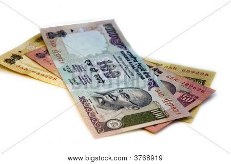 Indian Rupee (Inr) On White