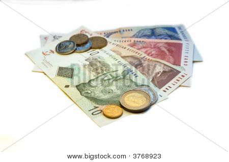 South African Rand (Zar) On White