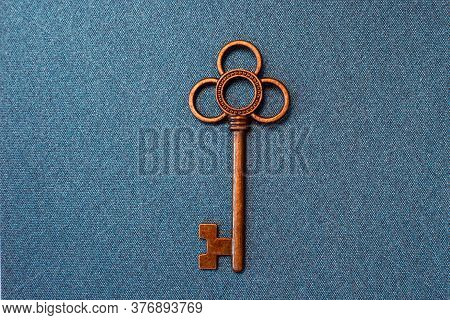 Golden Key. The Only Correct Key, The Correct Approach To Solving The Problem, The Concept. Vintage