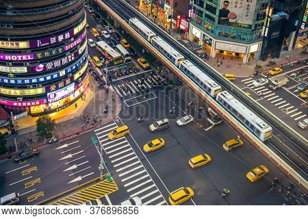 April 28, 2016: Scenery Of The Eastern District, The Area Along  Zhongxiao East Road Between Zhongxi