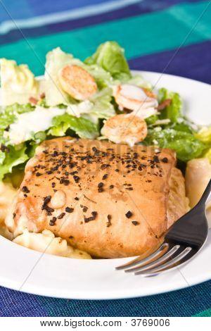 Seafood Crepe And Caesar Salad