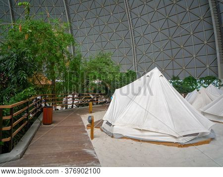 Krausnick, Germany, 2010: Tropical Islands Resort Is A Tropical Theme Park Located In The Former Air