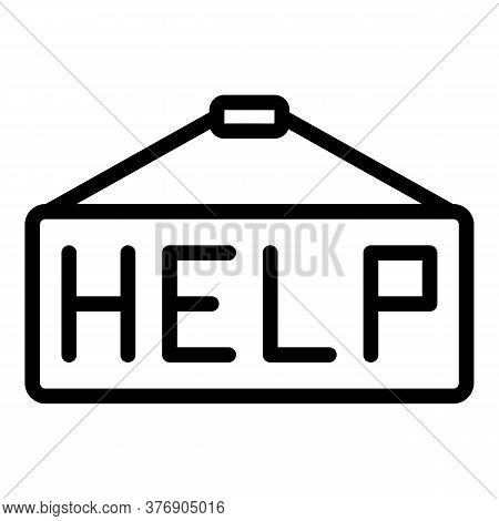 Help Climate Immigrants Icon. Outline Help Climate Immigrants Vector Icon For Web Design Isolated On