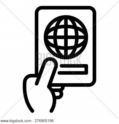 International Passport Icon. Outline International Passport Vector Icon For Web Design Isolated On W