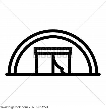Big Immigrants Tent Icon. Outline Big Immigrants Tent Vector Icon For Web Design Isolated On White B