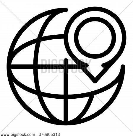 Location Illegal Immigrants Icon. Outline Location Illegal Immigrants Vector Icon For Web Design Iso
