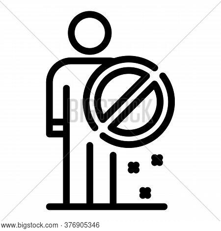 Immigrants Restricted Icon. Outline Immigrants Restricted Vector Icon For Web Design Isolated On Whi