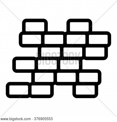 Destroyed Brick Wall Icon. Outline Destroyed Brick Wall Vector Icon For Web Design Isolated On White