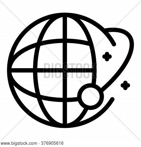 Global Crisis Immigration Icon. Outline Global Crisis Immigration Vector Icon For Web Design Isolate