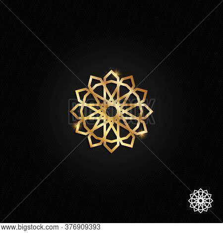 Islamic Oriental, Geometric Motif. Traditional Islamic, Arabic, Persian And Ottoman Design Vector Il