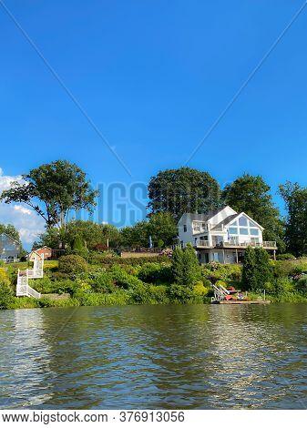 Lakefront Homes On Beautiful Lake Lefferts In Matawan New Jersey,