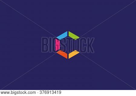 C. C logo . C images . Square C design . C vector . C design . Letter C logo design . colorful letter C design .vector illustration