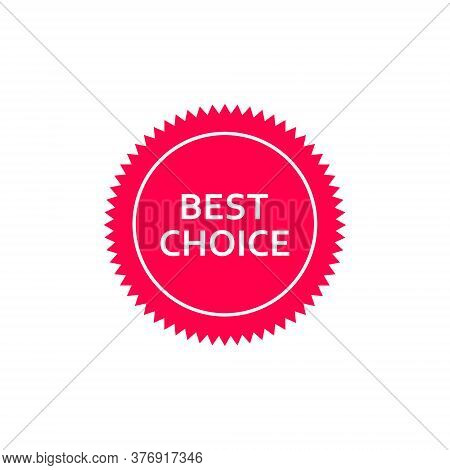 Best Choice Tag Vector Icon. Best Choice Red Label Illustration Isolated On White