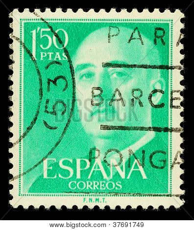 Spanish Franco Postage Stamp