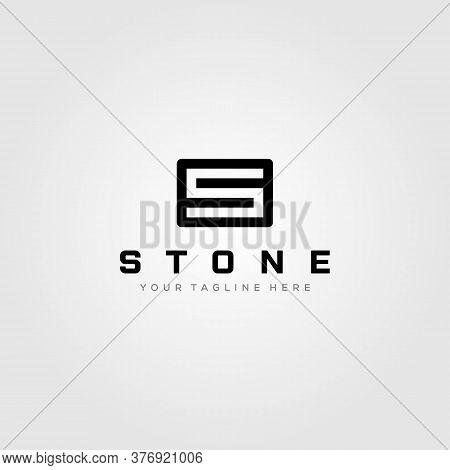 Letter S Stone Square Logo Minimalist Vector Illustration Design