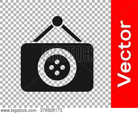 Black Tailor Shop Icon Isolated On Transparent Background. Vector Illustration