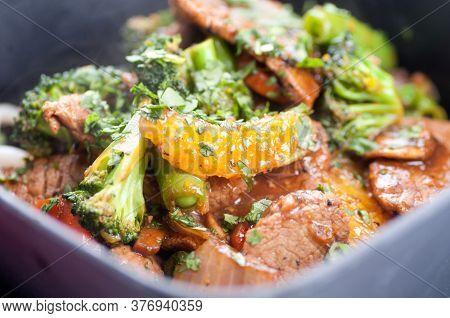 Oranger Beef Stir Fry With Udon Noodles