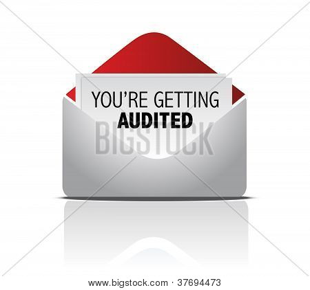 You Are Getting Audited Mail Illustration Design