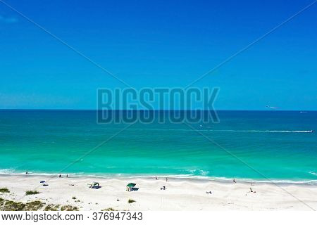 Aerial View Of Anna Maria Island, Florida