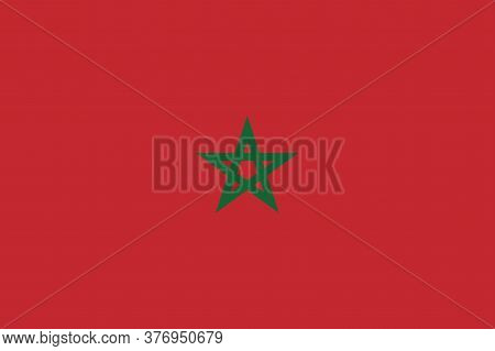 National Morocco Flag Official Colors And Proportion Correctly. National Morocco Flag