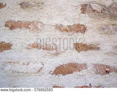 Slate Stone Wall Textured Background Red Brickwall