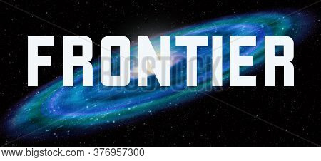 Frontier Theme With Cosmic Spiral Galaxy Background