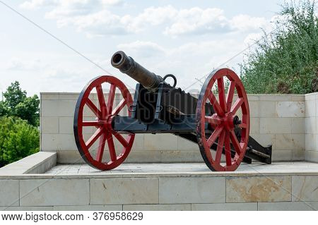 Medieval Cannon Installation At The Entrance To The Fortress, Moldova
