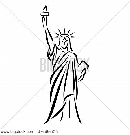 Stylized Vector Image Of The Statue Of Liberty