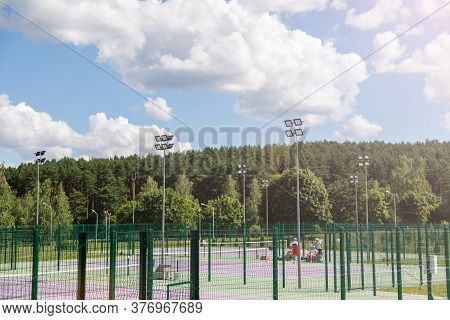 Tennis Court, Side View Of A Tennis Court