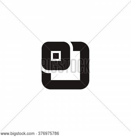 Abstract Letter Oj Square Design Logo Vector