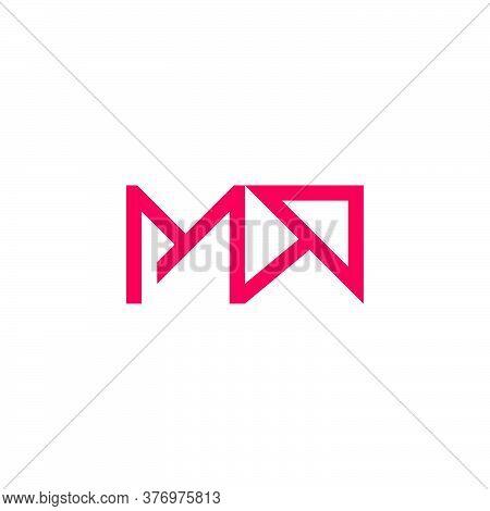 Letter Ma Arrow Up Geometric Logo Vector