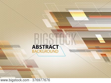 Minimalistic Design, Creative Concept, Modern Diagonal Abstract Background Geometric Element. Brown,
