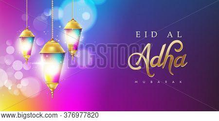 Eid Al Adha Mubarak The Celebration Of Muslim Community Festival Calligraphy Background Design.fanoo