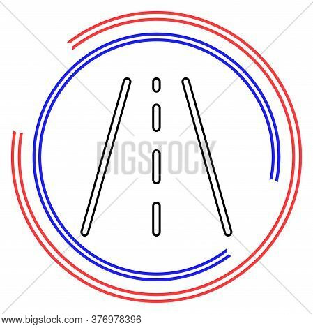 Vector Highway Road, Street Sign - Traffic Abstract Symbol. Thin Line Pictogram - Outline Editable S
