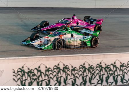 July 17, 2020 - Newton, Iowa, USA: COLTON HERTA (88) of The United States races through the turns during the  race for the Iowa INDYCAR 250s at Iowa Speedway in Newton, Iowa.