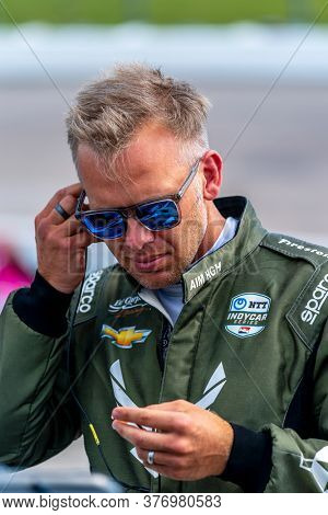 July 17, 2020 - Newton, Iowa, USA: ED CARPENTER (20) Of the United States   qualifies for the Iowa INDYCAR 250s at Iowa Speedway in Newton, Iowa.