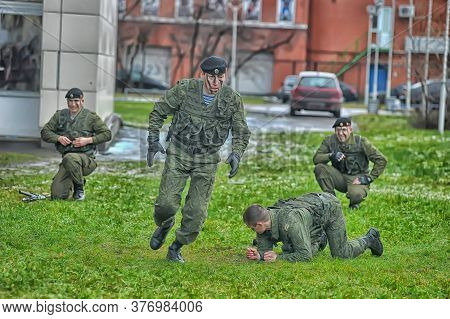 Russia, St. Petersburg, 27,11,2013 Demonstrative Performance Of The Marine Corps