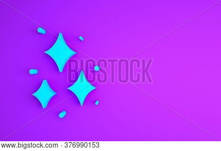 Blue Firework Icon Isolated On Purple Background. Concept Of Fun Party. Explosive Pyrotechnic Symbol