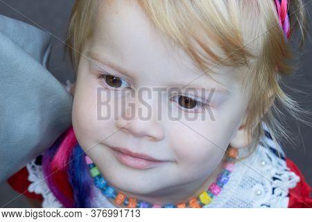 Portrait Of A Little Girl Light Hair Child