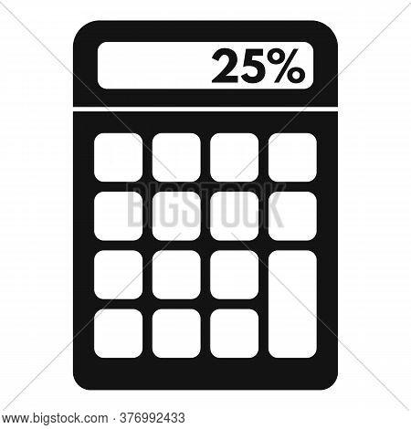 Percent Tax Calculator Icon. Simple Illustration Of Percent Tax Calculator Vector Icon For Web Desig