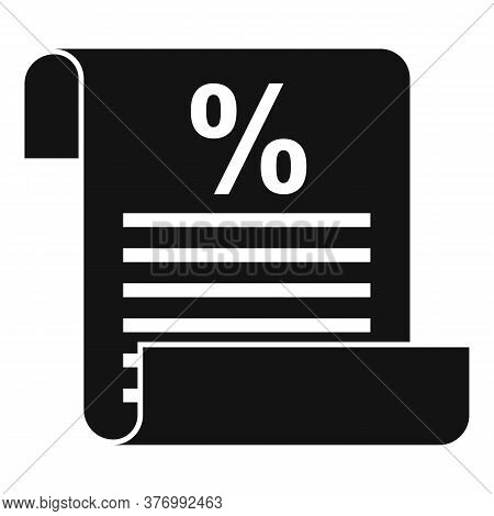 Tax Inform Paper Icon. Simple Illustration Of Tax Inform Paper Vector Icon For Web Design Isolated O