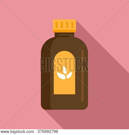 Cough Syrup Dosage Icon. Flat Illustration Of Cough Syrup Dosage Vector Icon For Web Design